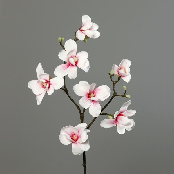 Magnolienzweig Real Touch 100x30cm weiß-rosa DP Kunstblumen künstliche Blumen Magnolie Magnolia