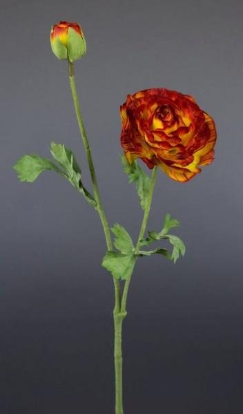Ranunkelzweig 48cm orange-gelb CG Kunstblumen Seidenblumen künstliche Blumen Ranunkel