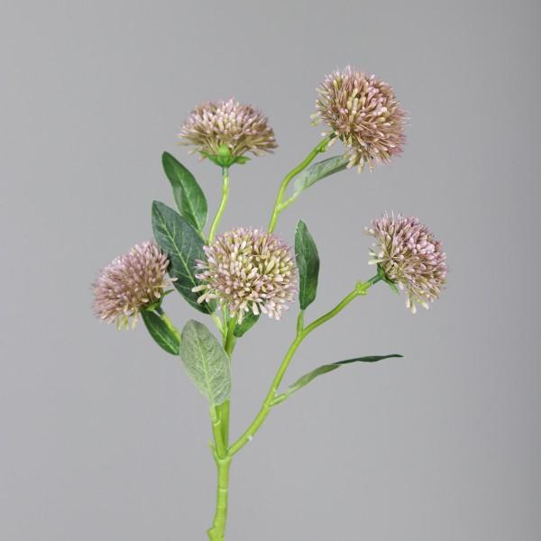 Alliumzweig mit 5 Blüten 56cm helllila DP Kunstblumen künstliche Blumen Allium Lauch