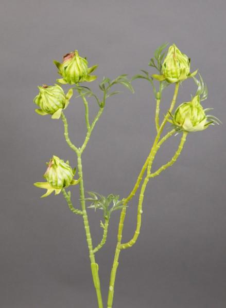 Hibiskuszweig 56cm grün LM Kunstblumen künstliche Blumen künstlicher Hibiskus Eibisch Eibis