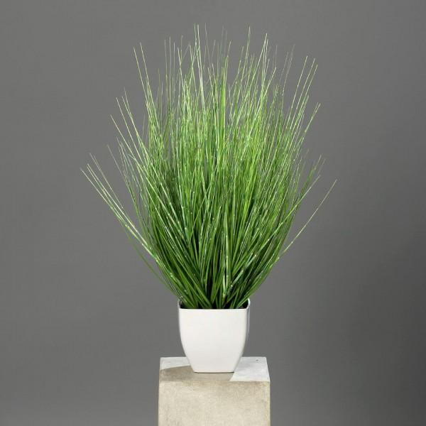 California-Beach-Gras 62x45cm im weißen Topf DP Dekogras künstliches Gras Kunstpflanzen Grasbusch