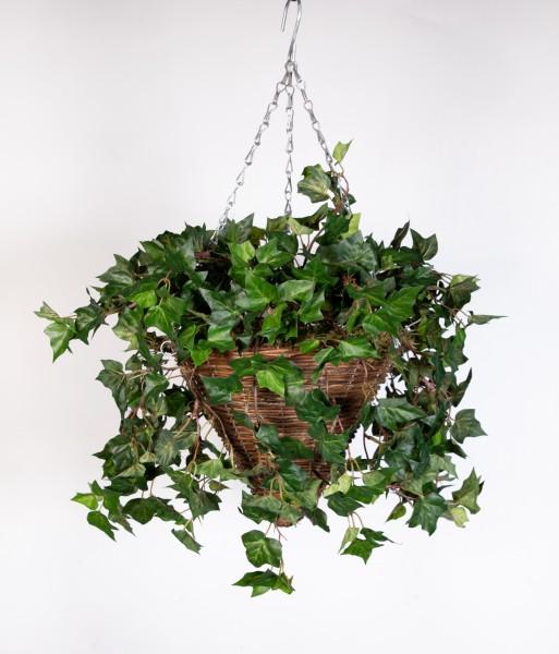 Pflanzampel Gr.M mit Efeuranke 30cm/70cm DA Kunstpflanzen Hängeampel Blumenampel künstliche Pflanzen