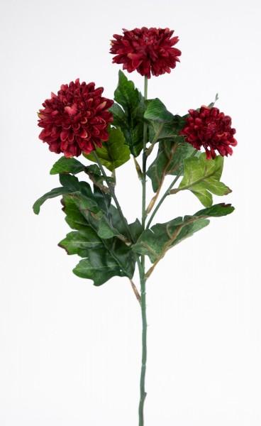 Asternzweig 54cm bordeaux CG Kunstblumen künstliche Aster Blumen Korbblütler Asteraceae