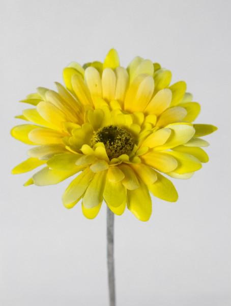 Gerbera 56cm gelb DP Kunstblumen Seidenblumen künstliche Blumen