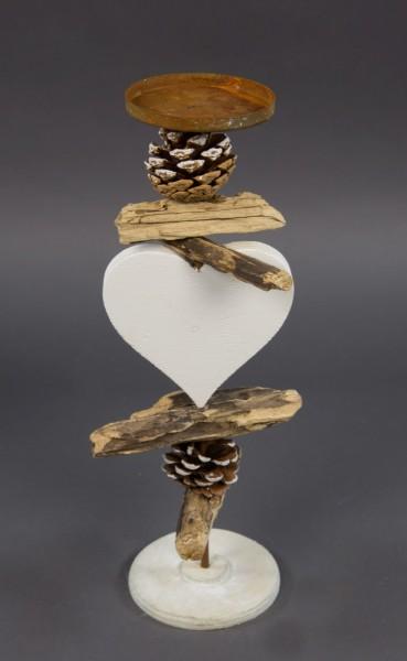 Kerzenhalter / Kerzenständer Herz 34cm LU Weihnachten Kerzenleuchter