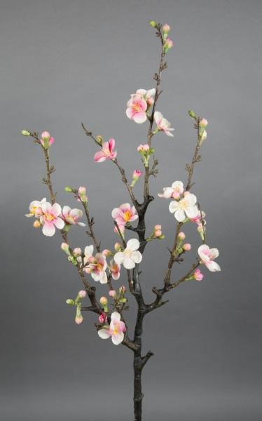 Kirschblütenzweig / Ast 75x30cm rosa-creme GA Kunstblumen Seidenblumen künstliche Kirschblüten