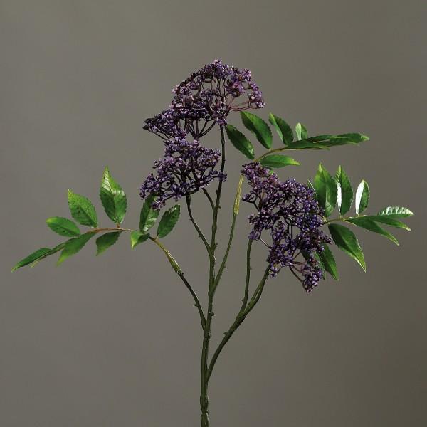 Asclepiazweig 75cm lila DP Kunstblumen künstlicher Zweig Asclepia Seidenpflanze Kunstzweig
