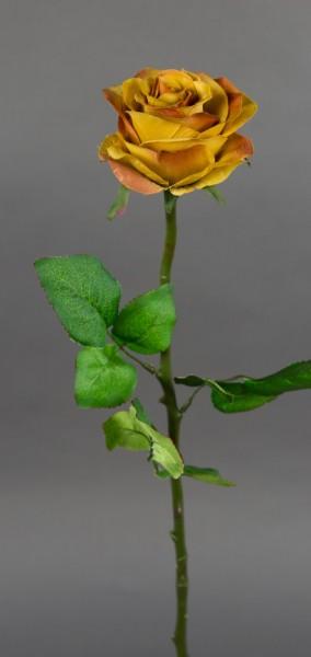 Rose 56cm karamell DP Kunstblumen Seidenblumen künstliche Blumen Rosen