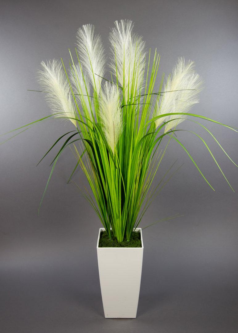palmengrasbusch 90cm im wei en hochtopf dp kunstpflanzen. Black Bedroom Furniture Sets. Home Design Ideas