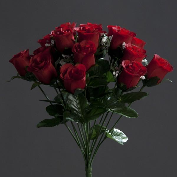 Rosenstrauß Paris 36cm rot DP Kunstblumen künstlicher Strauß Seidenblumen