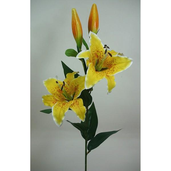 Große Lilie 85cm gelb DP Kunstblumen Seidenblumen