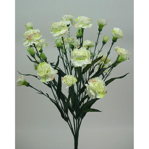 Trossnelkenbusch 50cm creme DP Kunstblumen künstliche Nelke Nelken Trossnelken Blumen