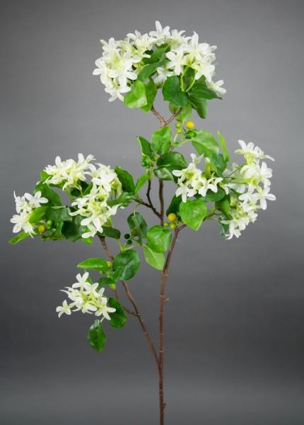 Fliederzweig 90cm weiß ZF Kunstblumen Seidenblumen künstlicher Flieder Zweige Blumen