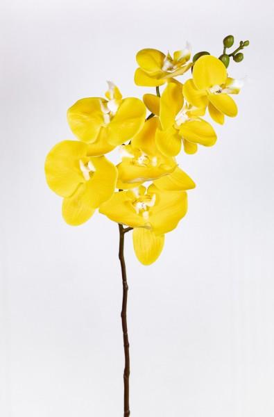 Orchideenzweig Real Touch 94cm gelb ZJ Kunstblumen künstliche Orchidee Orchideen Blumen