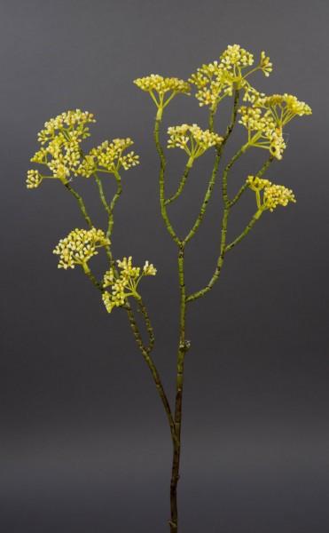 Patriniazweig / Goldbaldrian 58cm gelb PF Kunstzweig künstlicher Zweig Kunstblumen