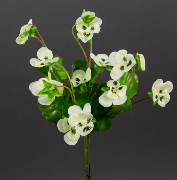 Hornveilchen 22cm weiß-creme FI Kunstpflanzen Kunstblumen künstliche Veilchen Stiefmütterchen
