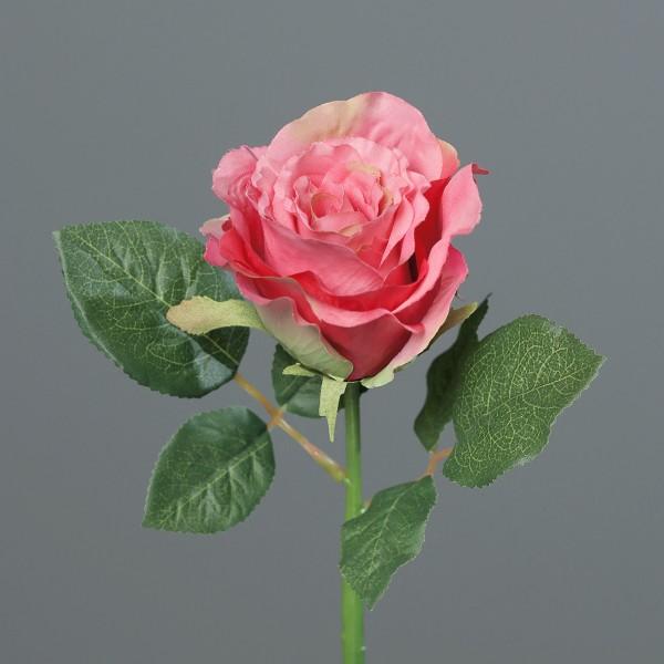 Rose 30cm rosa-pink DP Kunstblumen künstliche Blumen