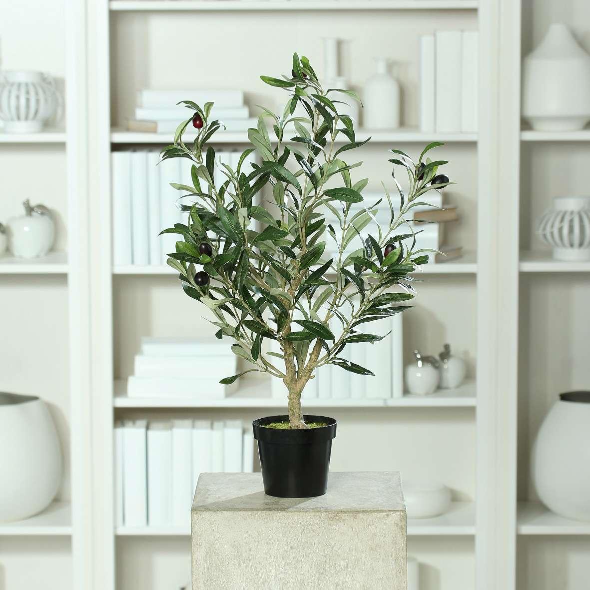 Top Olivenbaum Natura 60cm im Topf DP Kunstbaum Kunstpflanzen #YZ_17