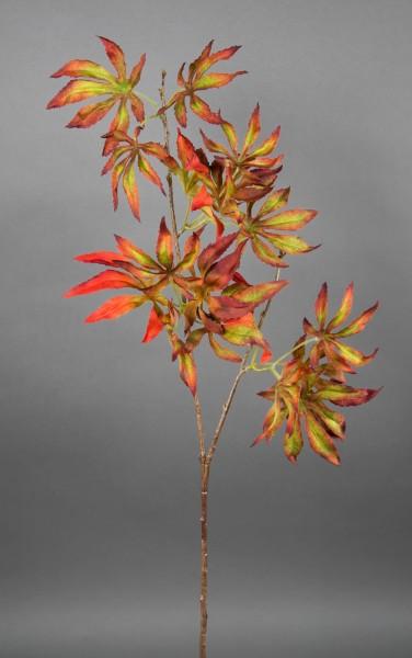 Ahornzweig 80cm rot-orange-grün CG künstlicher Ahorn Zweig Kunstpflanzen