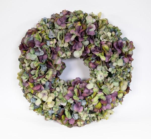 Hortensienkranz 48cm blau-grün-lila CG künstlicher Kranz künstliche Hortensien