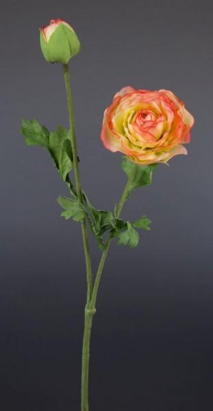 Ranunkelzweig 48cm rosa-creme CG Kunstblumen Seidenblumen künstliche Blumen Ranunkel