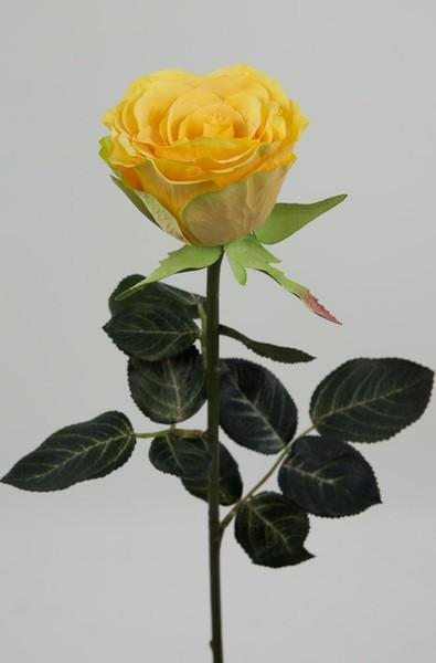 Gartenrose 42cm gelb GA Kunstblumen Seidenblumen künstliche Blumen Rose