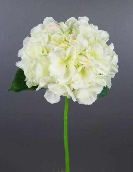 Hortensie Natura 40cm weiß-creme AD Kunstblumen künstliche Hortensie Blumen Seidenblumen