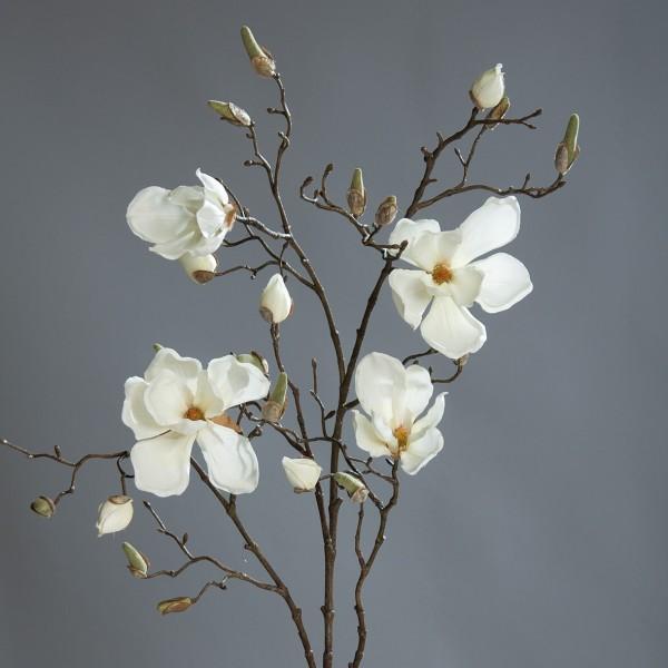 Magnolienzweig 110cm weiß-creme DP Kunstblumen künstliche Magnolie Blumen Seidenblumen