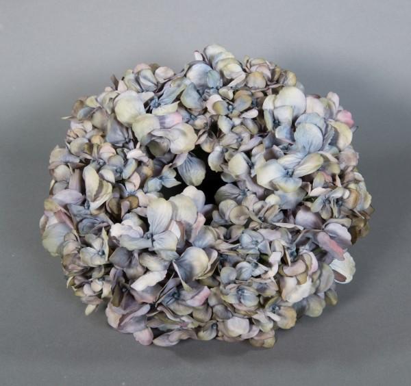 Hortensienkranz 32cm blau-grau CG künstlicher Kranz künstliche Hortensien