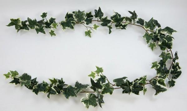 Efeugirlande Deluxe 200cm grün-weiß AR Kunstpflanzen künstliches Efeu