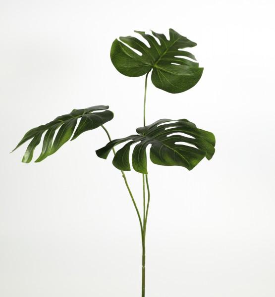 Splitphiloblatt 3-fach 60cm GA Kunstpflanzen künstlicher Zweig Dekozweig Blatt