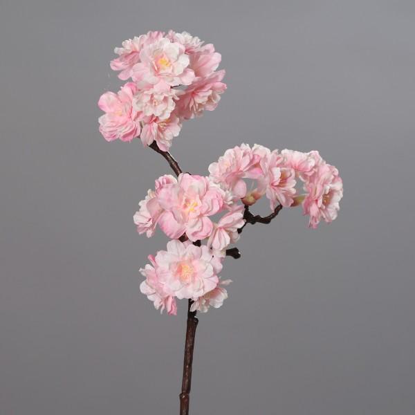 Ast 75x30cm rosa-creme GA Kunstblume künstliche Kirschblüten Kirschblütenzweig