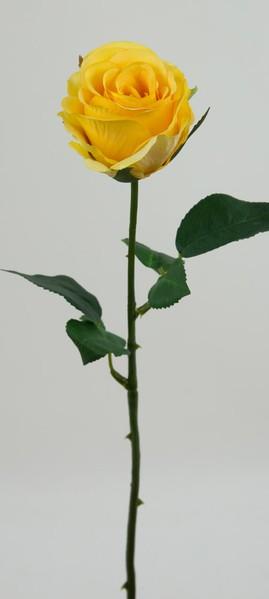 Rose Piccolo 48cm gelb GA Kunstblumen Seidenblumen künstliche Blumen Rose