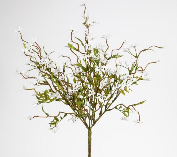 Jasminbusch 32x24cm weiß GA Kunstblumen künstliche Blume Jasmin Dekoblumen