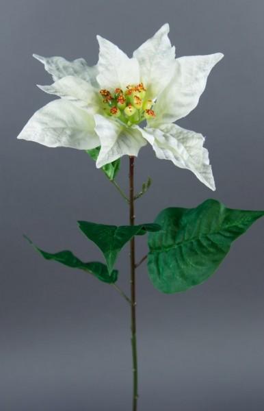 Weihnachtsstern 56cm weiß AR Kunstblumen künstliche Blumen Poinsettie künstlicher Weihnachtsstern