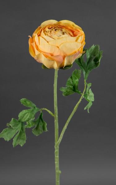Große Ranunkel 56cm orange GA Kunstblumen Seidenblumen künstliche Blumen Ranunkel