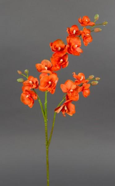 Orchideenzweig 60cm orange PM Kunstblumen künstliche Orchidee Blumen Pflanzen Kunstpflanzen