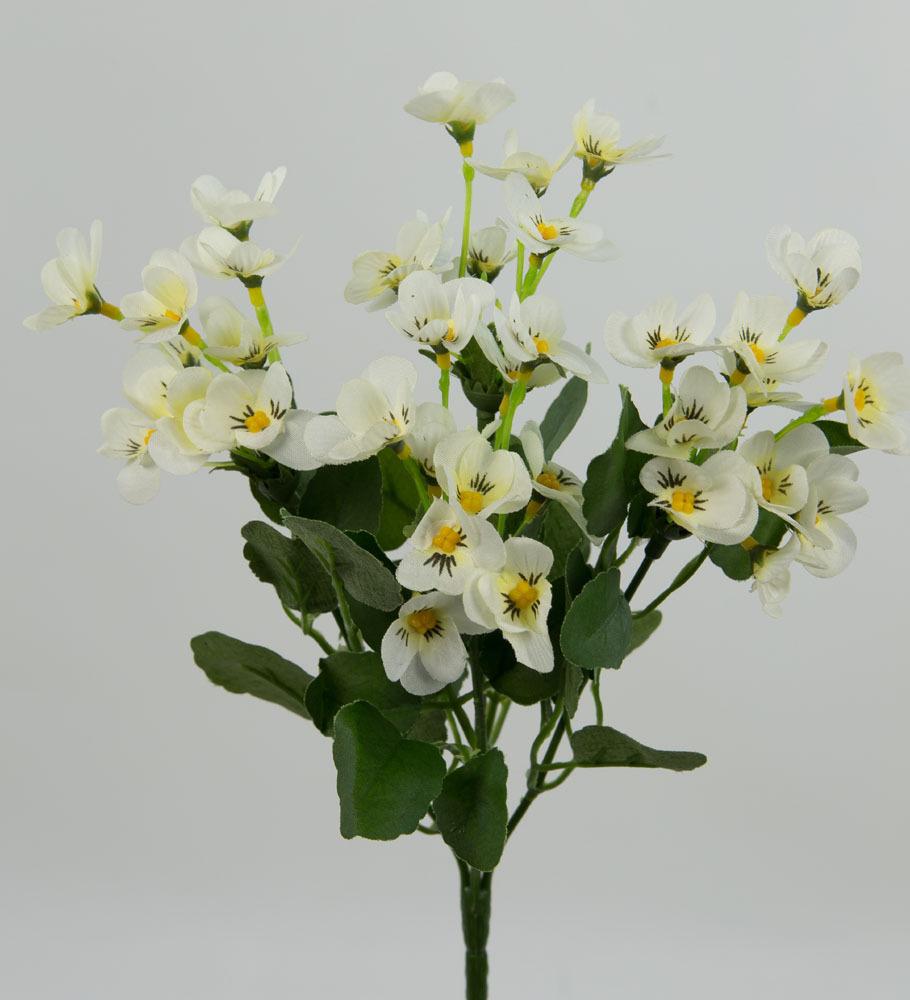 hornveilchenbusch 26cm wei cg kunstblumen k nstliche blumen hornveilchen veilchen. Black Bedroom Furniture Sets. Home Design Ideas