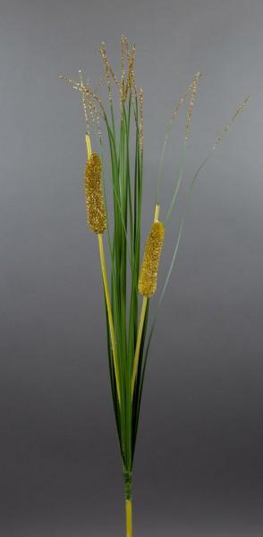 288 Stück Schilfgras mit Glitter 56cm PF Kunstpflanzen Kunstgras künstliches Gras Graszweig