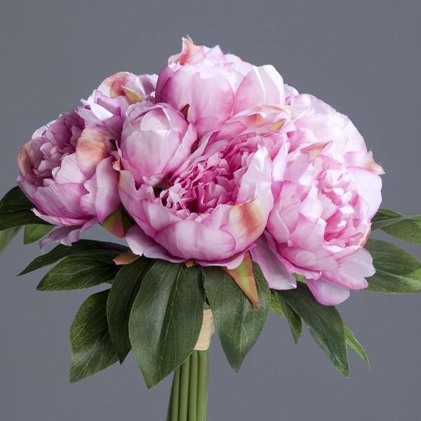 Pfingstrosenbund mit 8 Blüten 36cm rosa-pink DP ...