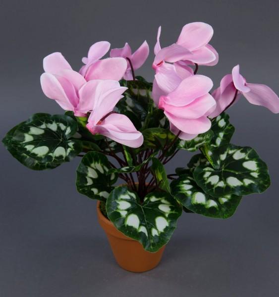 Alpenveilchen 36cm rosa im Topf ZF künstliche Blumen Kunstpflanzen Kunstblumen