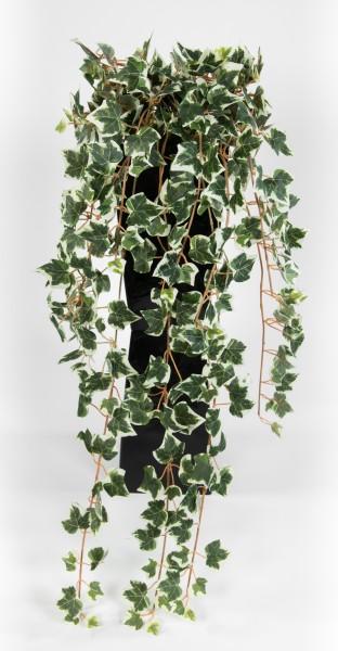 Künstlicher Efeubusch 75cm grün-weiß GA Kunstpflanzen künstliche Pflanzen Efeuranke