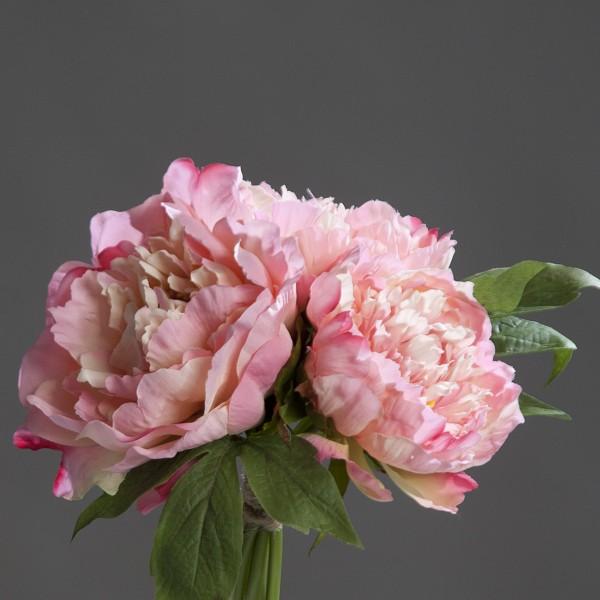 Pfingstrosenbouquet 26cm rosa-pink DP Kunstlbumen künstliche Pfingstrosen Päonie Blumen Strauß