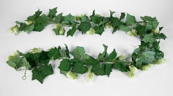 Hopfengirlande 180cm FP Kunstblumen Kunstpflanzen künstlicher Hopfen