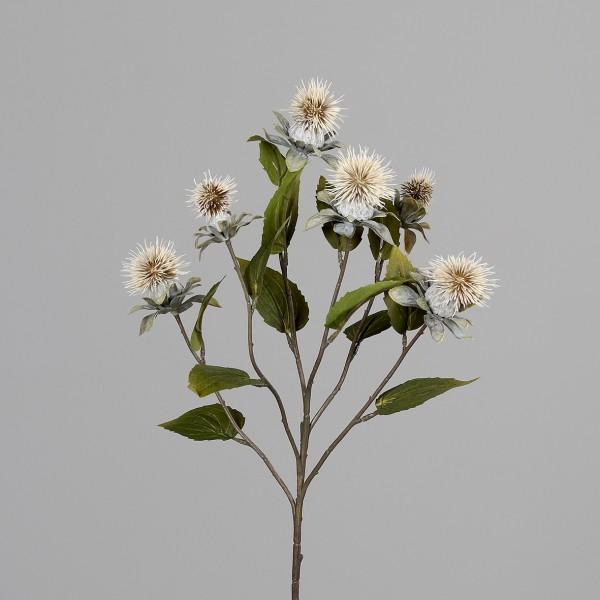 Kugeldistelzweig 78cm creme DP Kunstblumen künstliche Blumen Distel Kugeldistel Kunstzweig Zweig