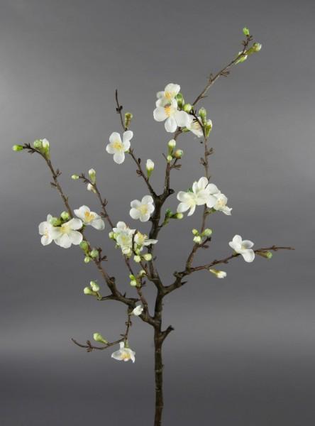 Kirschblütenzweig / Ast 75x30cm weiß GA Kunstblumen Seidenblumen künstliche Kirschblüten Zweige Blum