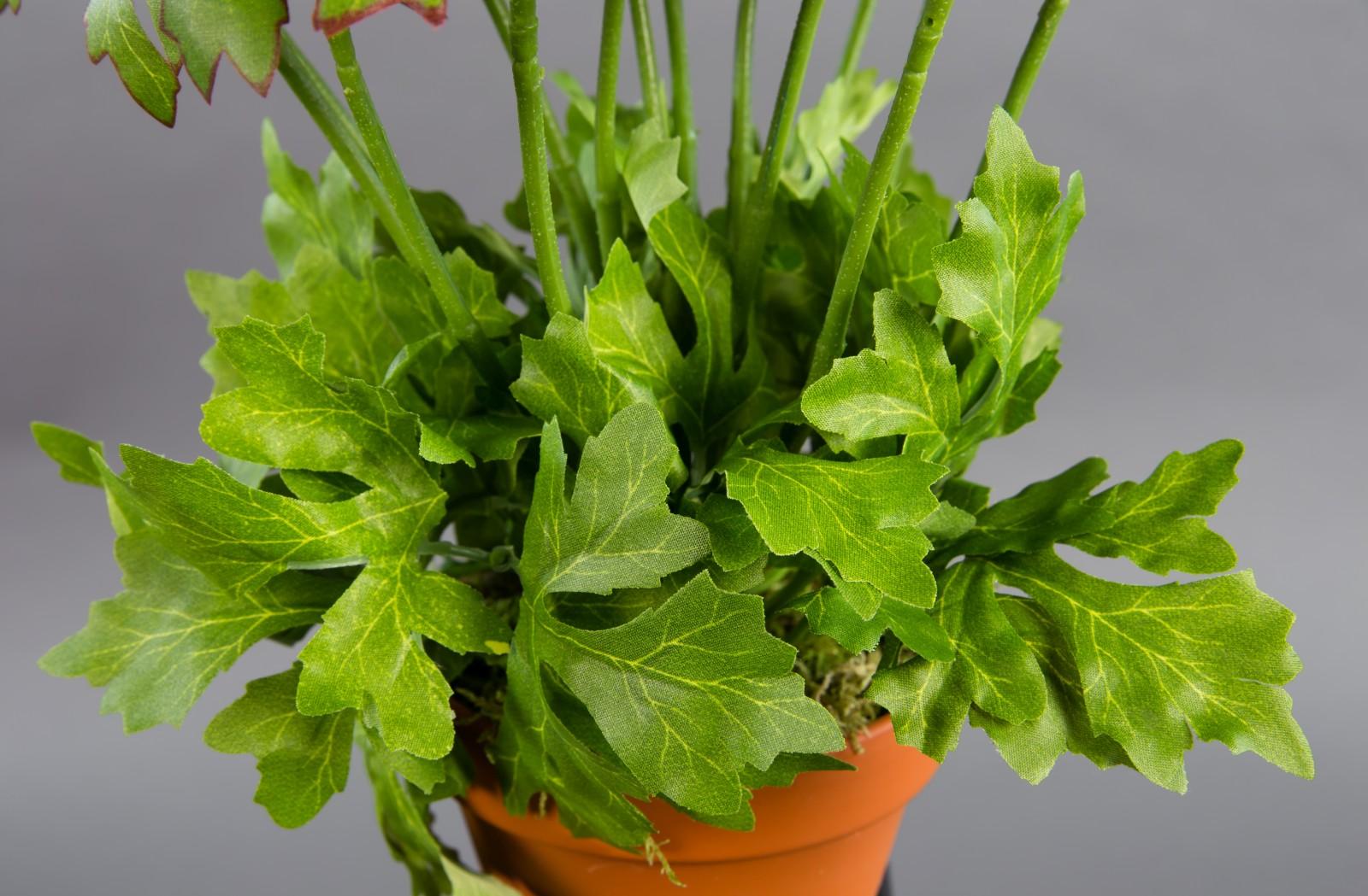 künstliche Hornveilchen 30cm lila Stiefmütterchen Pflanze Kunstblumen Kunstblume