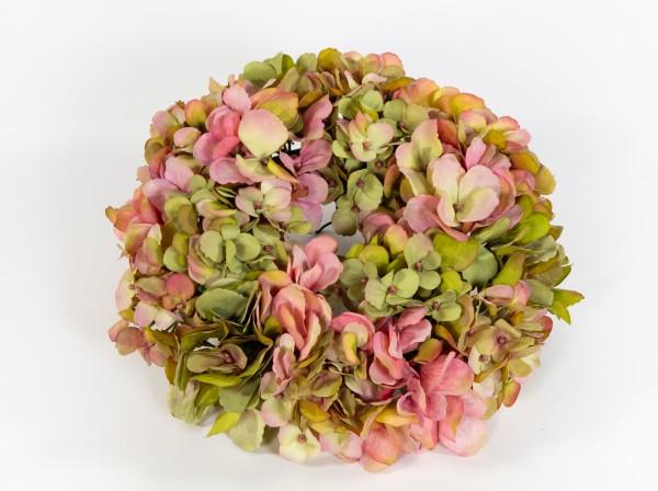 Hortensienkranz 32cm rosa-grün CG künstlicher Kranz künstliche Hortensien