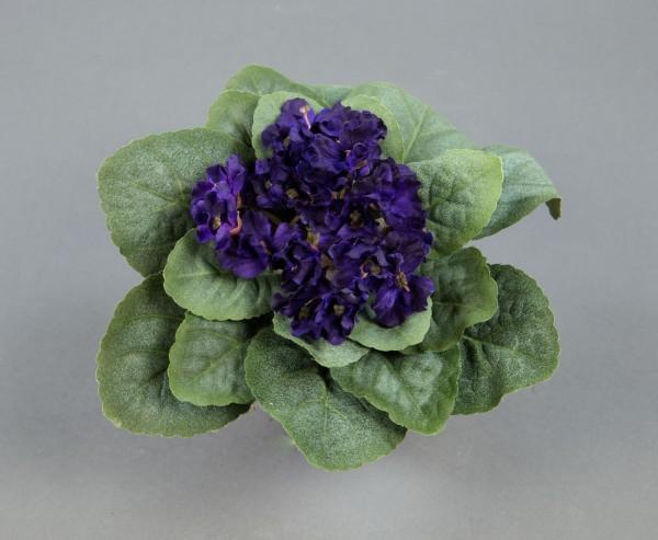 Usambaraveilchen 22x14cm dunkellila -ohne Topf- GA künstliche Veilchen Kunstpflanzen Kunstblumen