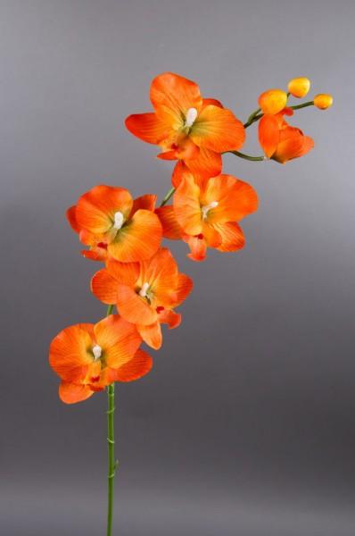 Orchideenzweig 72cm orange DP Kunstblumen künstliche Orchidee Orchideen Blumen Seidenblumen